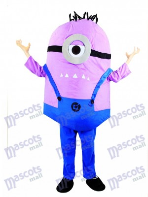 Villain MINIONS Despicable Me Purple Minions Mascot Costume
