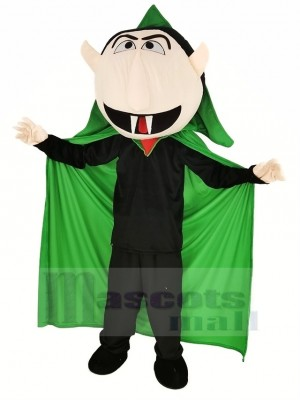 Sesame Street the Count Von Vampire Mascot Costume Cartoon