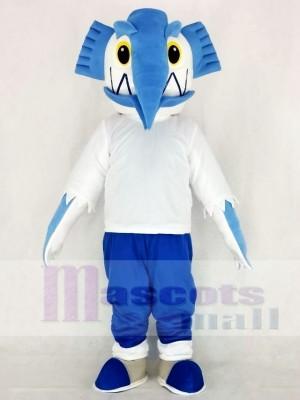 Realistic Swordfish Mascot Costume Cartoon