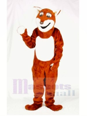 Happy Fox Mascot Costumes Adult