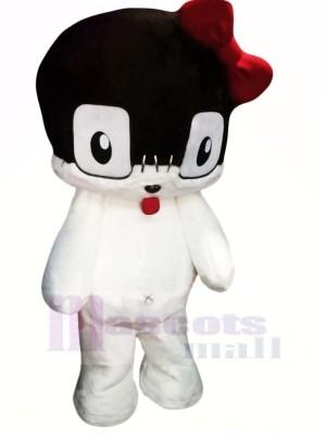 Lovely White Cat Mascot Costumes Cartoon