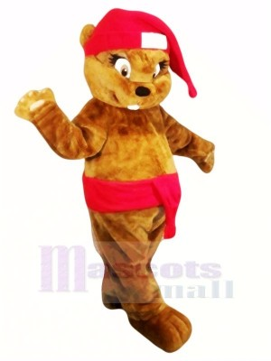 Cute Brown Christmas Beaver Mascot Costumes Animal