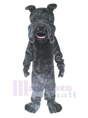 Black SharPei Mascot Dog Costume