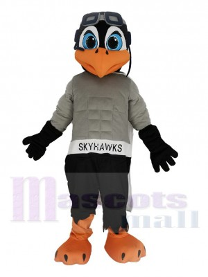 Skyhawk with White Cloak Mascot Costume