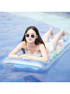PVC Inflatable Mat Adult Floating Water Bed Outdoor Pool Beach