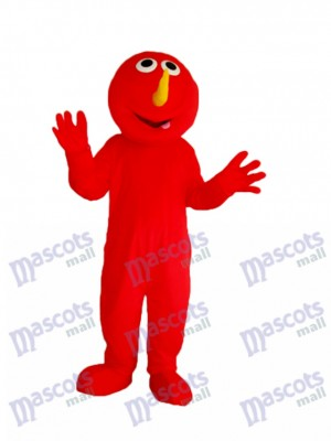 Red Elmo Monster Mascot Adult Costume