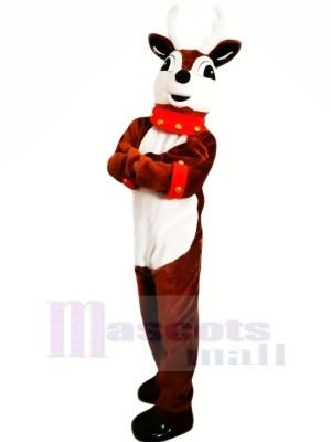 Cute Brown Reindeer Mascot Costumes Cartoon