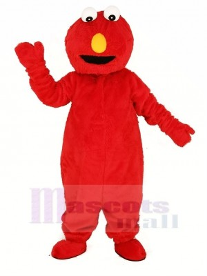 Red Elmo Monster Mascot Costume Cartoon