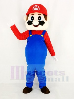 Super Mario Bros with Red Coat Mascot Costume Cartoon