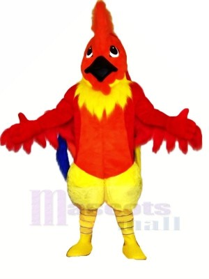Funny Red Rooster Mascot Costumes Cartoon