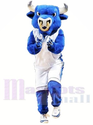 College Blue Bull Mascot Costumes