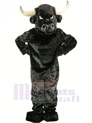Strong Black Bull Adult Mascot Costumes Animal