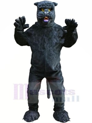 Sleek Black Panther Mascot Costumes Cartoon