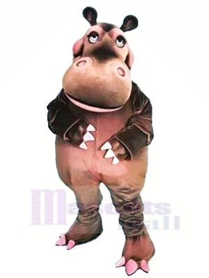 Happy Hippo Mascot Costumes Cartoon