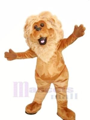 Realistic Furry Lion Mascot Costumes Cartoon
