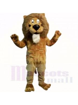 Brown Friendly Lightweight Lion Mascot Costumes Cartoon