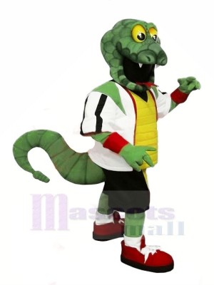 Strong Green Snake Mascot Costumes Cartoon