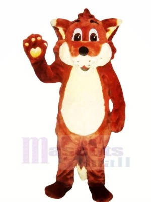 Happy Red Fox Mascot Costumes Cartoon