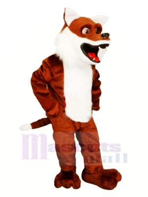 Lovely Brown Fox Mascot Costumes Cartoon