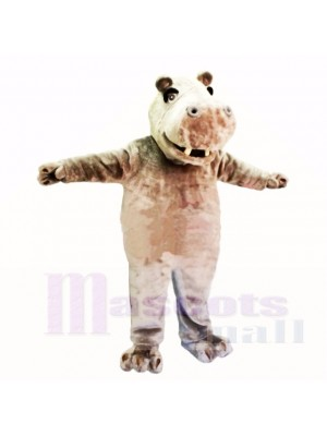 Smiling Friendly Lightweight Hippo Mascot Costumes Cartoon