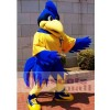 Motion Blue Rooster Big Bird Mascot Costume