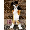 High Quality Brown Black and White Dog Mascot Costume