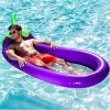 Inflatable Swimming Float Eggplant Shape Lounge Chair