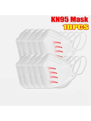 10 Pieces Pack 0f KN95 Masks Passed The GB-2626-KN95 Test PM2.5 Filter Respiratory Protective Mask