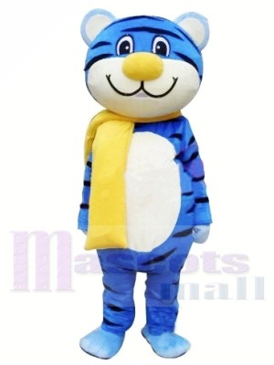 Blue Tiger Mascot Costume Free Shipping