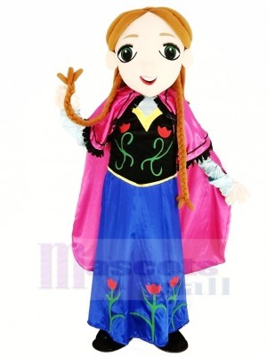 Frozen Princess Anna Mascot Costume