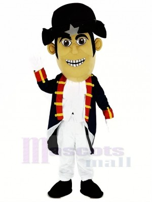 Patriot with Dark Blue Cloth Mascot Costume People