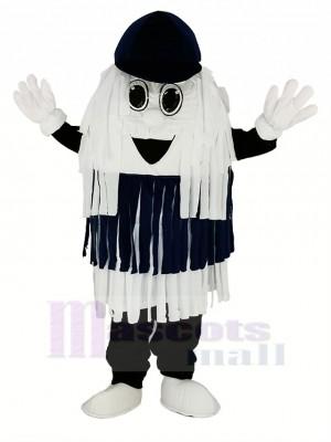 Blue & White Car Wash Cleaning Brush Mascot Costume
