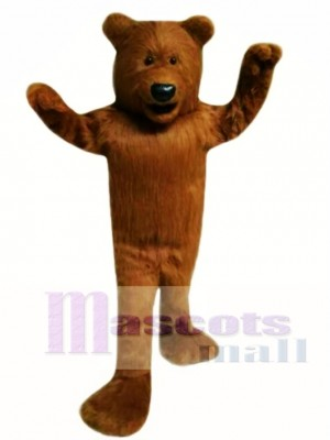 High Quality Hairy Brown Bear Mascot Costume