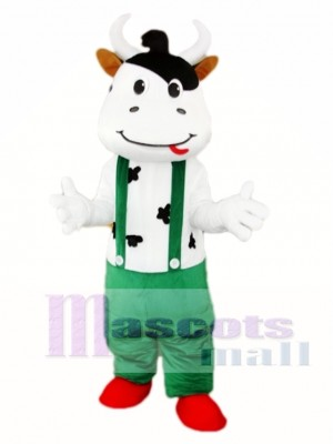 Green Cattle Cow Mascot Costume