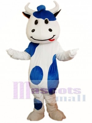 Blue Cattle Cow Mascot Costume