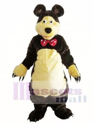 Gentle Brown Bear Mascot Costume