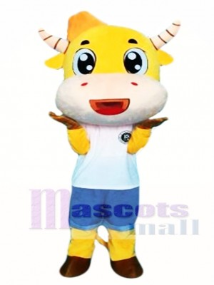 Cartoon Cow Mascot Costume