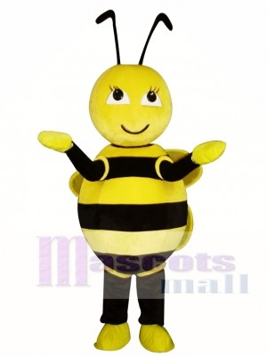 Cute Yellow Little Bee Mascot Costume