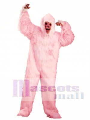 Love Pink Gorilla Monkey Mascot Costume