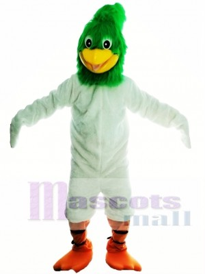 Green Roadrunner Mascot Costume