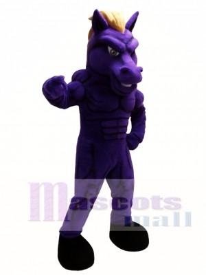 Purple Mustang Horse Mascot Costume