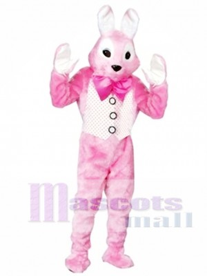 Adult Pink Easter Bunny Mascot Costume