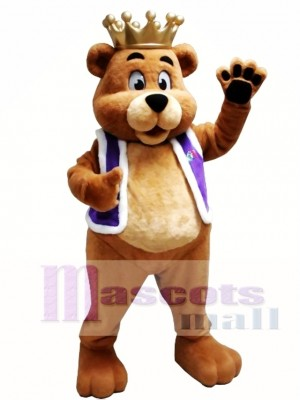 King Billy Bob Bear Mascot Costume
