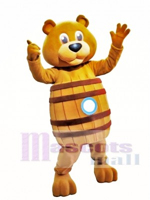 Barrel Bear Animal Mascot Costume