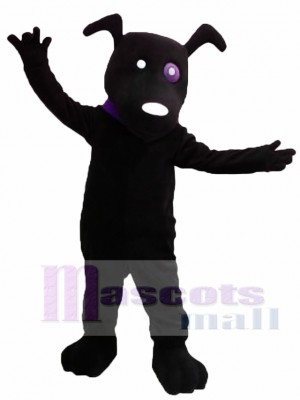 Cute Black Dog Mascot Costume