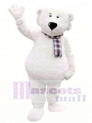 Cute White Polar Bear Mascot Costumes