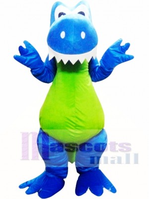 Adult Blue Green Dinosaur Mascot Costume