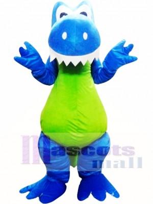 Adult Blue Green Dinosaur Mascot Costume