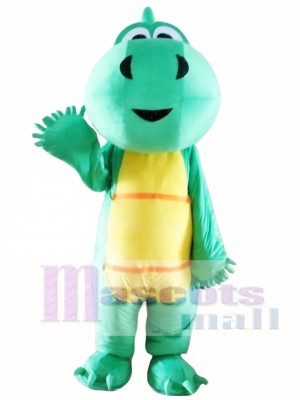Green Dinosaur Mascot Costume for Adults