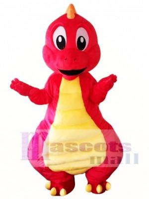 Red Dinosaur Mascot Costume